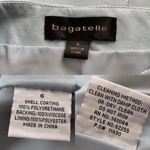 bagatelle Skirts - NWT Bagatelle Pale Blue Vegan Leather Pencil Skirt